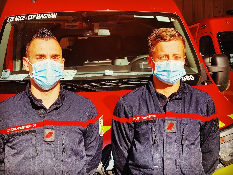 Pompiers de Nice - Mesures Covid19