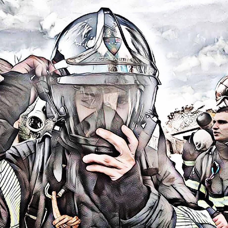 Pompier de Nices de Nice - Illustration