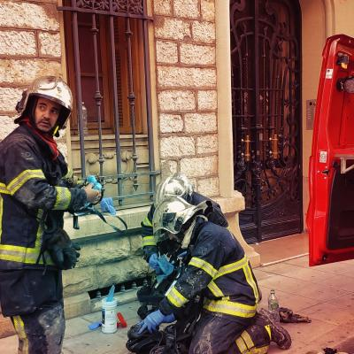 Pompiers de Nice - En intervention
