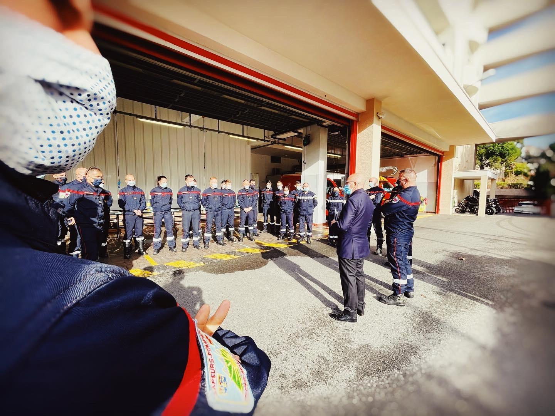 Rassemblement Pompiers Nice, Eric Ciotti