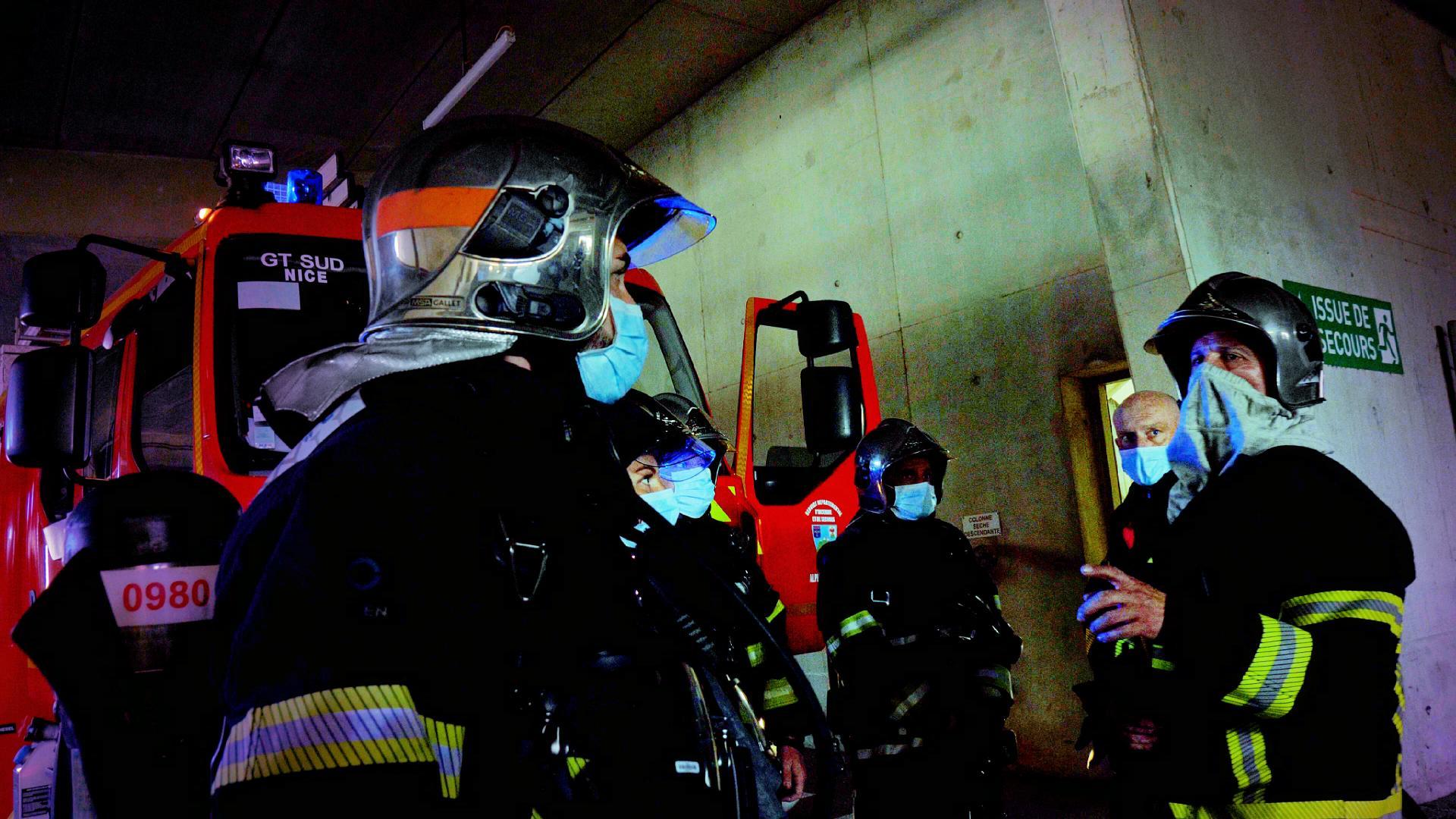 Manoeuvre - Stade Allianz (Pompiers de Nice)