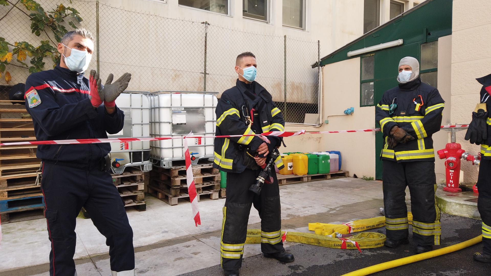 Pompiers de Nice - Manoeuvre de la garde